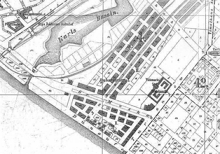 1889 gads, Rīgas plāna fragments
