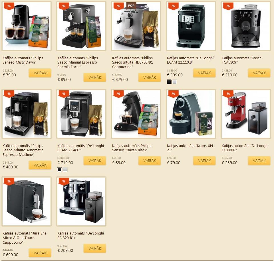 kafijas automati
