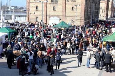 Successfully occurred the first Riga Flea Market at Spikeri Quarter
