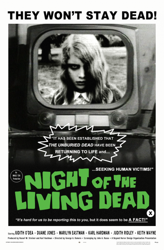 Night of the living dead 1968  poster CLEAN ver beyond