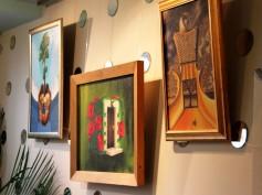 Aleksandra Bobkina Bjeļa gleznu izstāde cafe DALI