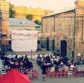 Open-air cinema evenings in Spīķeri Quarter